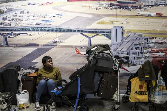 At London Gatwick, Glum Faces and Crying Kids Amid Drone Mess