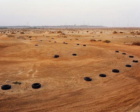 Motorcross and Radars, 2014 by Nikolas Ventourakis, Photography, Edition of 3, 152 x 122 cm. Price $3500