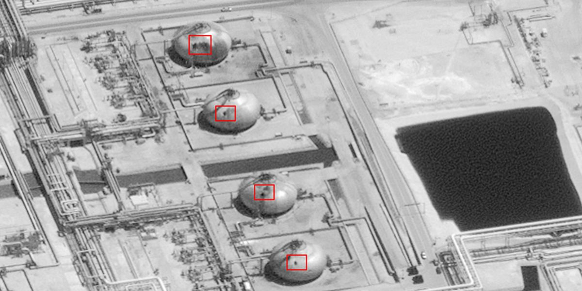Photos Show How an Air Attack Crippled Saudi Arabia's Oil Output