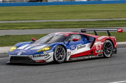 The No. 67 Ford GT, driven by Ryan Briscoe, Richard Westbrook, and Stefan Mucke during the race.