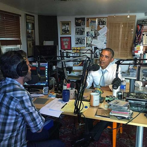 President Barack Obama interviewed by comedian Marc Maron.