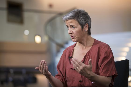 EU's Vestager Echoes Macron With Call to Resist Nationalist Lure