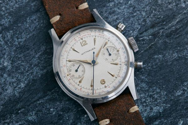 How to tell how much your vintage watch is worth bloomberg a 1960s wittnauer chronograph available for 1950 from the website analogshift gumiabroncs Gallery