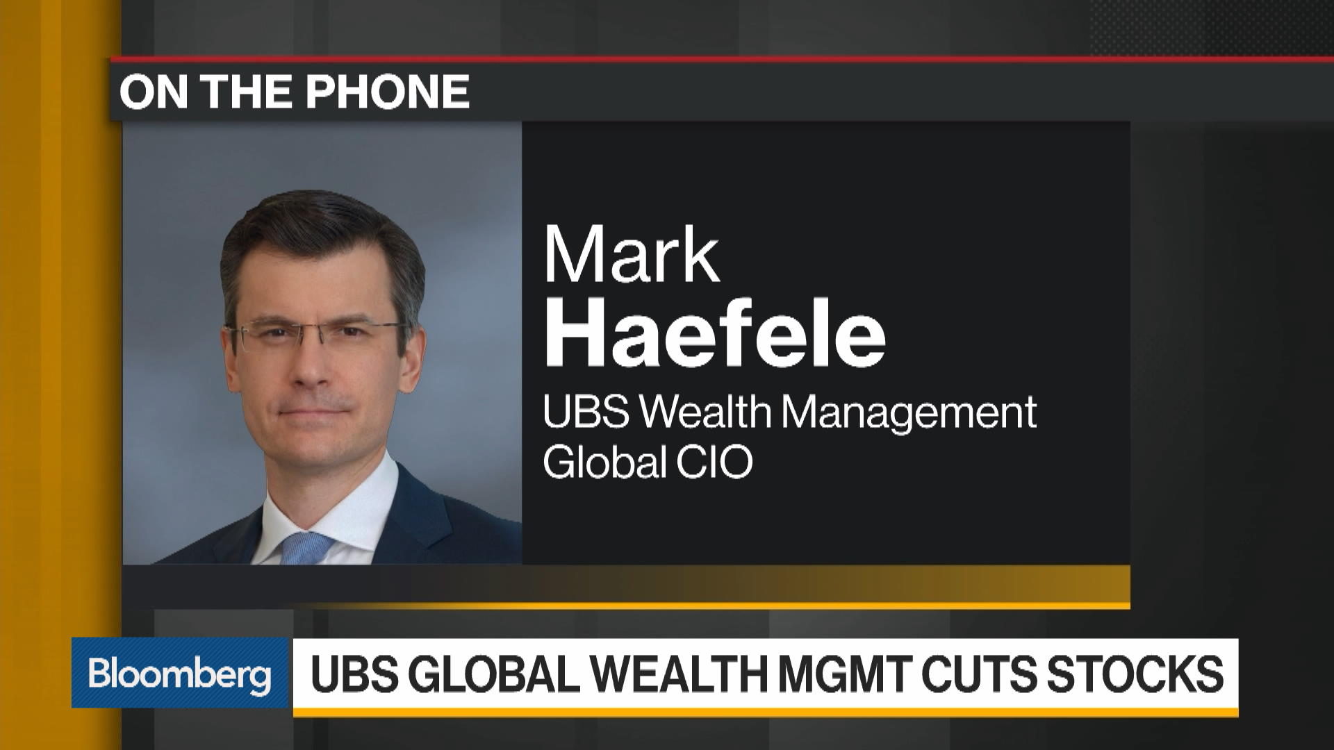UBS Wealth Management: Underweight Equities