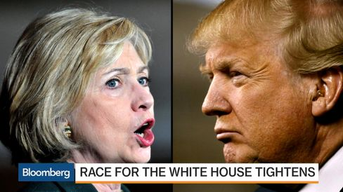 Polls Show Clinton and Trump in Tight Race
