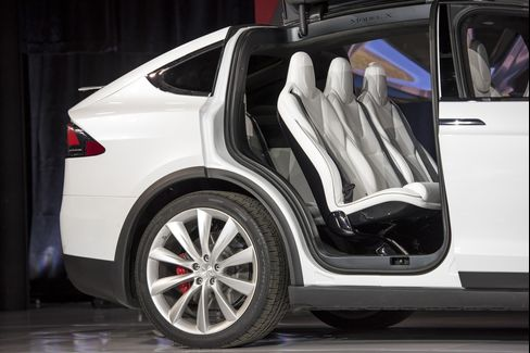 Tesla Motors Model X seats