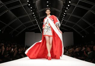 Budweiser beer inspired dress by Moschino