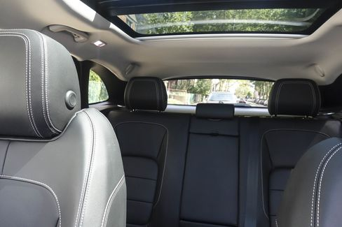 The interior of the F-Pace is large, with generously high headroom and plenty of shoulder room and leg room to fit five adults.