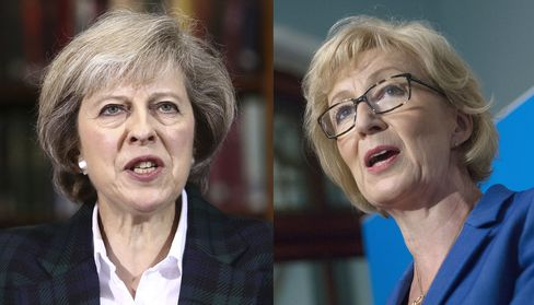 Theresa May and Andrea Leadsome