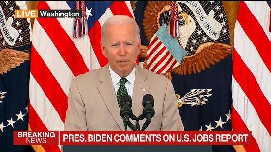 Biden Says Surge in Hiring Shows His Economic Plan 'Is Working'
