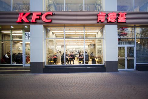 Yum Brands Drops as Manufacturing Slows in China