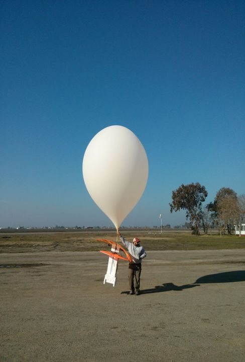 An early Project Loon launch.