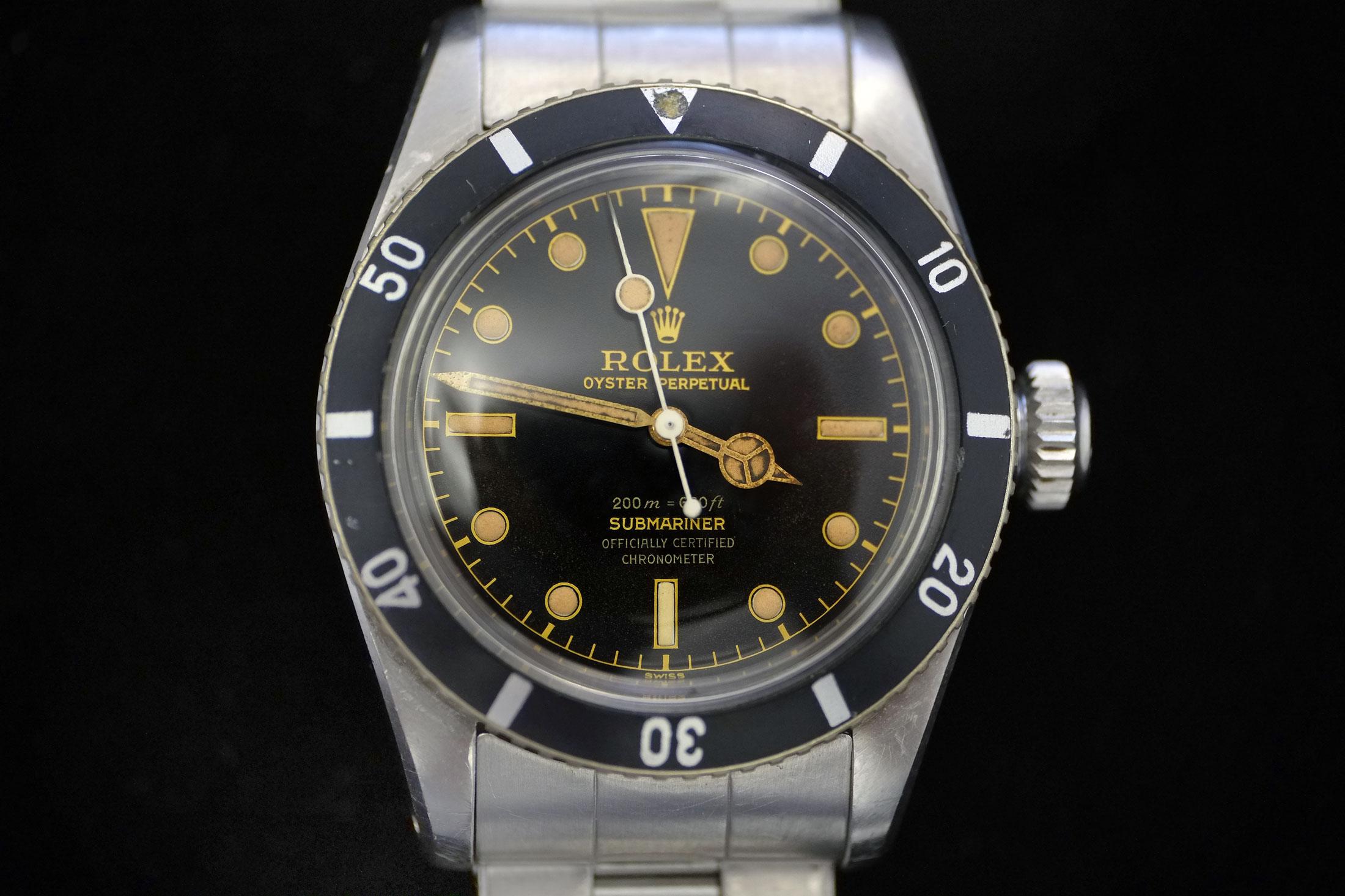 """Rolex Submariner ref. 6538 """"Big Crown"""" (lot 37)"""