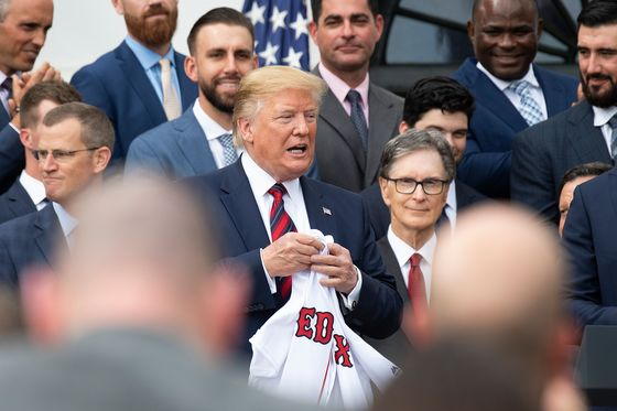 Trump Meets Mostly White Group of Red Sox Players After World Series Win