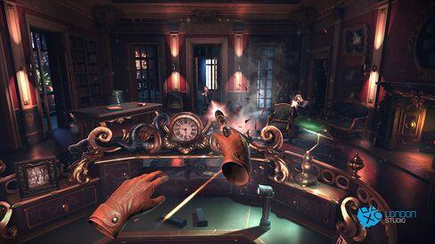 A screen shot from Sony's London Heist demo.