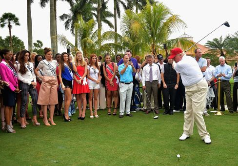 Donald Trump attends opening of Red Tiger Golf Course at Trump National Doral on Jan. 12, 2015, in Doral, Florida.