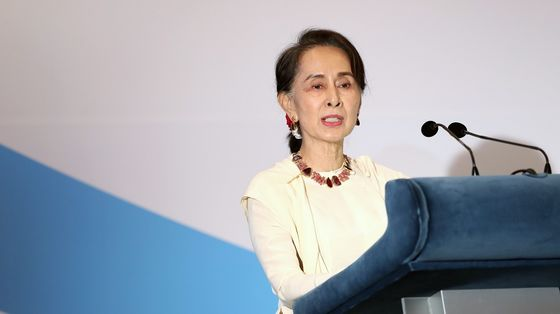 Detained Suu Kyi Charged Over Walkie-Talkies in Myanmar Coup