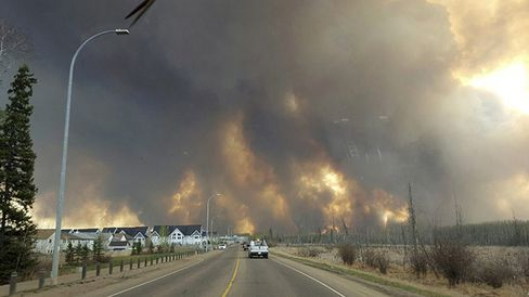 Wildfire outside Fort McMurray on May 3.
