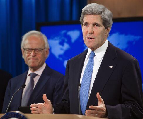 U.S. Secretary of State John Kerry & Diplomat Martin Indyk