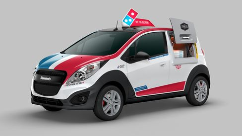 Domino's delivery vehicle