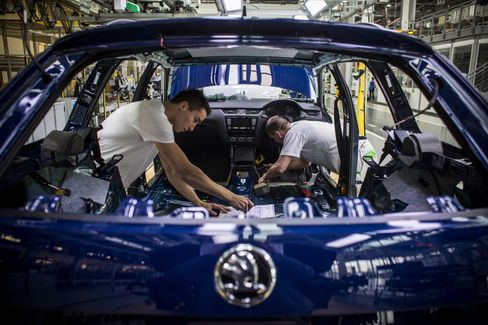 Automobile Manufacture At Volkswagen AG's Skoda Auto AS Plant