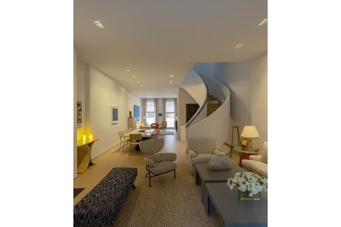 A renovated townhouse in Chelsea.