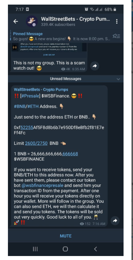 relates to WallStreetBets Forum Members Targeted in Telegram Cryptocurrency Scam