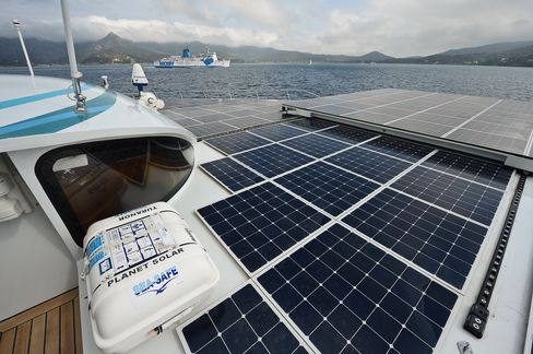 Solar Catamaran Ends First Sun-Powered Round-the-World Voyage