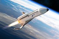 Phantom Express is envisioned as a highly autonomous experimental spaceplane, shown in this artist's concept.