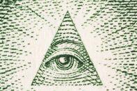 Extreme Macro One Dollar Bill Pyramid Eye