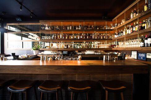 The interior of Bar Goto.