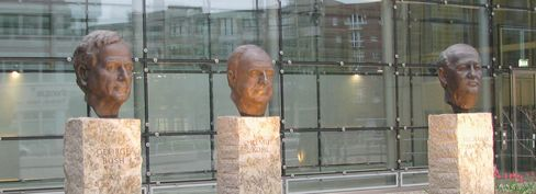 """""""The Fathers of German Unity"""" monument in Berlin."""