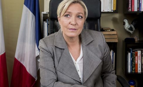 French National Front Leader Marine Le Pen Interview