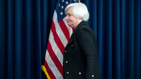 Janet Yellen, chair of the U.S. Federal Reserve, after a news conference following a Federal Open Market Committee (FOMC) meeting in Washington, D.C., on Sept. 17, 2015.