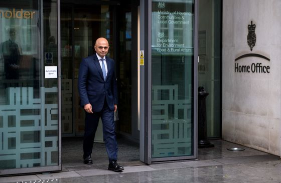 U.K.'s Javid Makes Peace With Police, Breaks With May's Approach