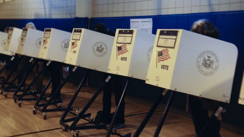 2014 Election Voting Booths in TriBeCa NYC