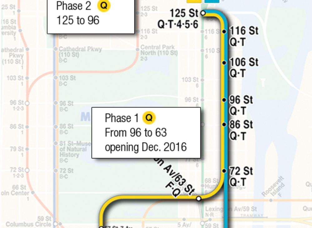 subway map with second avenue Historic Maps Of New York City S Second Avenue Subway Bloomberg