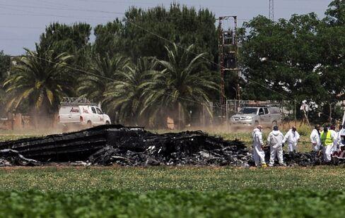 Airbus A400M Aircraft Wreckage