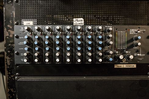 Still-functioning equipment in the Waldorf Astoria's audio room.
