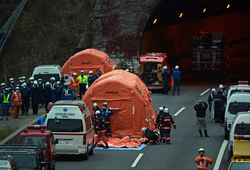 Japan Confirms at Least 9 Dead From Tunnel Collapse, NHK Says