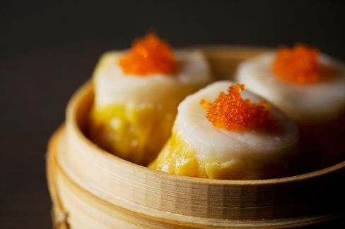 Scallop shui mai is among the most popular dim sum options.