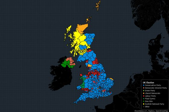 Britain Heads to Polls for Second Time Since Brexit Vote: Map