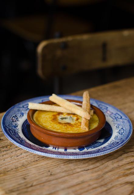 8 Hoxton Square's gorgonzola custard