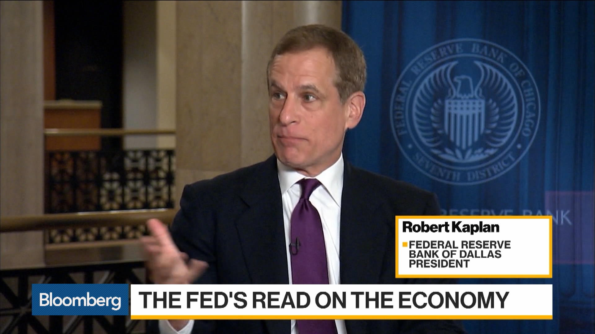 Fed's Kaplan Says Too Soon to Make Judgement on Rate Cut Call