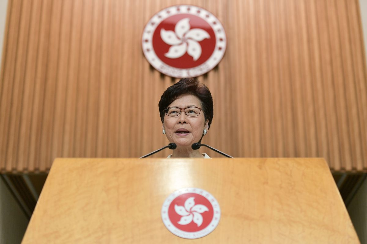 Carrie Lam Says Sanctions Won't Help Hong Kong as Joshua Wong Meets Congress