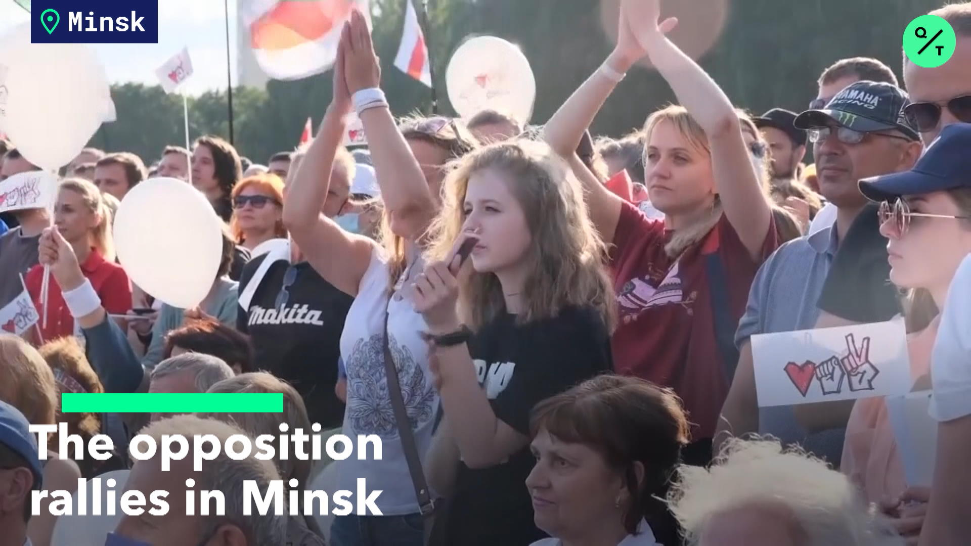 The Opposition Rallies in Minsk