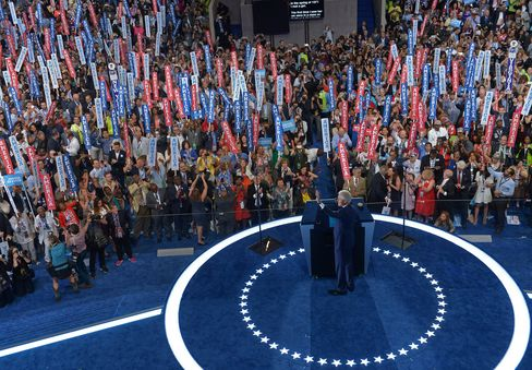 Former President Bill Clinton at the Democratic National Convention in Philadelphia.