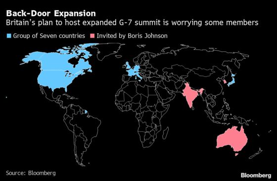 Johnson Fuels G-7 Fears of Rival Alliance to Counter China