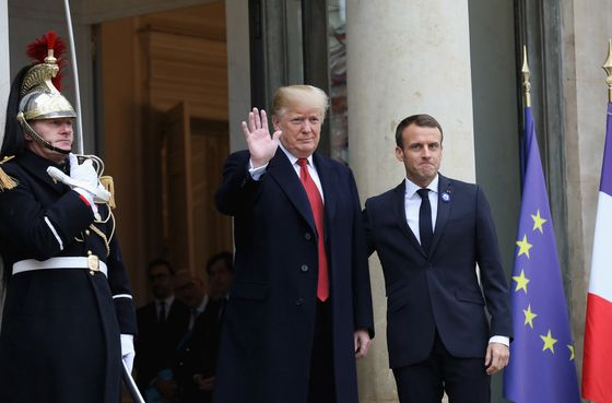 Trump Begins Paris Visit With Attack on Emmanuel Macron