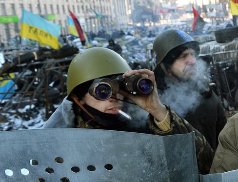 Anti-Government Protesters in Kiev